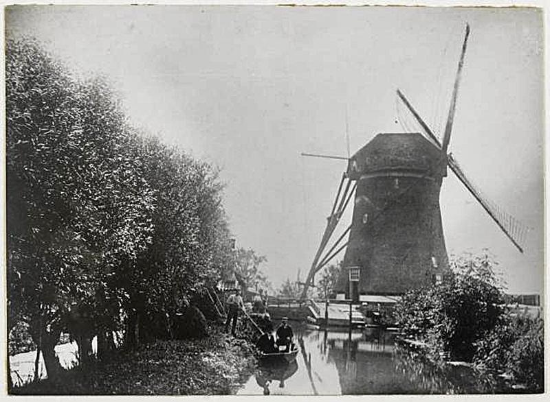 Sluipwijkse molen bij het Reeuwijksche Verlaat