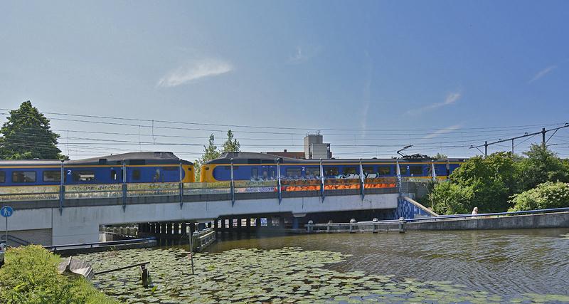 Spoorbrug over de Breevaart